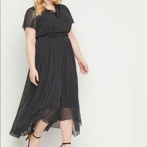 LANE BRYANT Chiffon Fit and Flare Dress